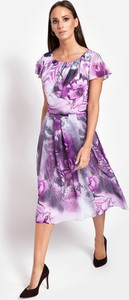 Sukienka Molton z krótkim rękawem z tkaniny