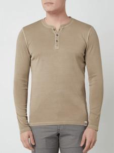 Brązowa koszulka z długim rękawem McNeal z bawełny w stylu casual z długim rękawem