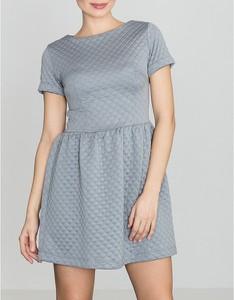 Sukienka LENITIF z okrągłym dekoltem mini w stylu casual