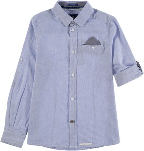 Niebieska koszula dziecięca Tom Tailor z bawełny dla chłopców