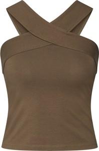 Zielona bluzka Urban Classics z bawełny bez rękawów