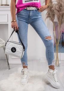Niebieskie jeansy Fason z bawełny w stylu casual