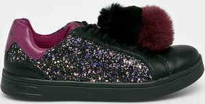 Czarne buty sportowe dziecięce Geox sznurowane
