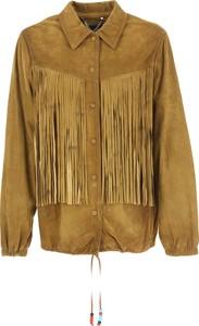 Brązowa kurtka Golden Goose w stylu boho krótka