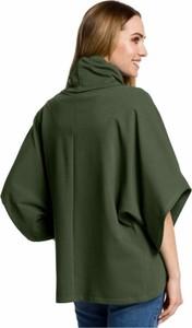 Zielona bluzka MOE z golfem z długim rękawem