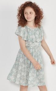 Turkusowa sukienka dziewczęca Reserved