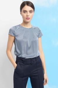 Niebieska bluzka ORSAY z tkaniny z krótkim rękawem