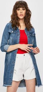 Niebieska kurtka Answear długa w street stylu z jeansu