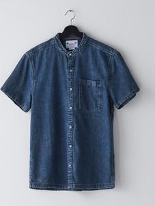 Koszula Cropp ze stójką z jeansu