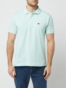 Turkusowa koszulka polo Lacoste z krótkim rękawem z bawełny w stylu casual