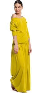 Sukienka Rennwear maxi z bawełny z długim rękawem