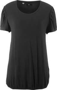 Czarny t-shirt bonprix bpc bonprix collection w stylu casual