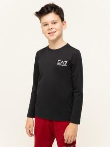Czarna bluzka dziecięca EA7 Emporio Armani