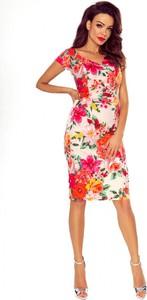 Sukienka Bergamo ołówkowa z okrągłym dekoltem midi