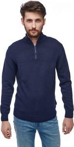 Granatowy sweter Wrangler w stylu casual