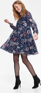 Granatowa sukienka Top Secret z okrągłym dekoltem
