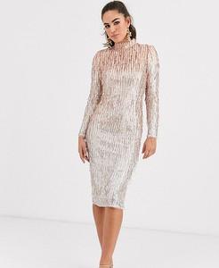 Sukienka Tfnc midi z długim rękawem