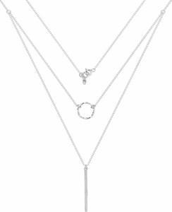 Perlove Podwójny Naszyjnik z Kółeczkiem Srebrny