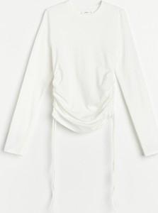 Bluzka Reserved w stylu casual z okrągłym dekoltem z długim rękawem