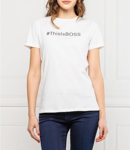 Bluzka Hugo Boss z krótkim rękawem w młodzieżowym stylu
