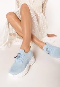 Niebieskie buty sportowe born2be sznurowane