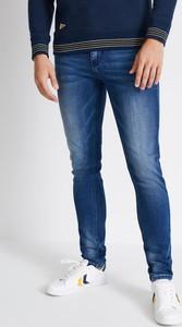 Niebieskie jeansy Diverse z jeansu w stylu casual