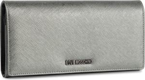 Srebrna torebka Love Moschino do ręki matowa mała