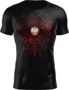 Czarny t-shirt Vision Wear Sport z krótkim rękawem z tkaniny