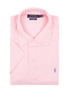 Różowa koszula POLO RALPH LAUREN z krótkim rękawem