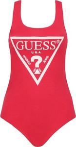 Czerwona bluzka Guess Underwear z okrągłym dekoltem