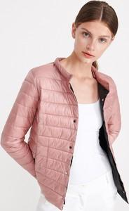 Różowa kurtka Reserved krótka w stylu casual