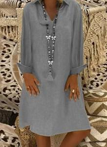 Sukienka Cikelly z okrągłym dekoltem mini