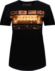 Czarny t-shirt Geographical Norway z bawełny