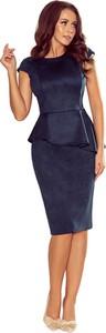 Sukienka NUMOCO z okrągłym dekoltem z krótkim rękawem