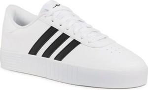 Trampki Adidas sznurowane w sportowym stylu z płaską podeszwą