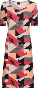 Sukienka bonprix RAINBOW mini z dżerseju z krótkim rękawem