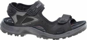 Granatowe buty letnie męskie Ecco na rzepy