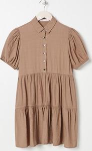 Sukienka Sinsay w stylu casual koszulowa mini