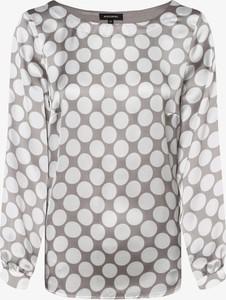 Bluzka More & More z okrągłym dekoltem z długim rękawem
