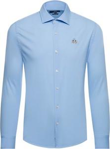 Niebieska koszula La Martina z długim rękawem