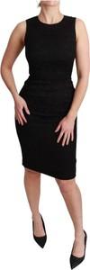 Sukienka Dolce & Gabbana bez rękawów z okrągłym dekoltem midi