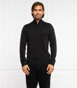 Czarny sweter Calvin Klein w stylu casual ze stójką