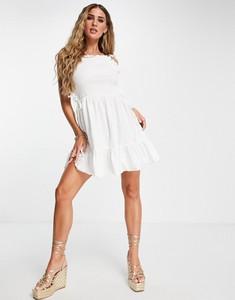 Sukienka Asos z długim rękawem z bawełny gorsetowa
