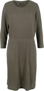 Sukienka bonprix bpc bonprix collection z długim rękawem w stylu casual
