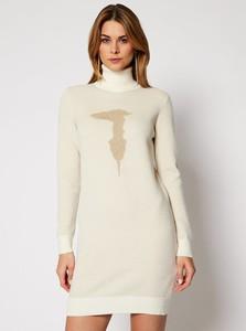 Sukienka Trussardi Jeans z długim rękawem mini w stylu casual