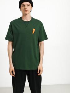 Zielony t-shirt Element z nadrukiem z bawełny