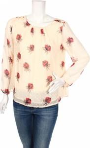 Bluzka Anany z długim rękawem z okrągłym dekoltem w stylu boho