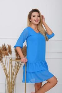 Sukienka Royalfashion.pl z okrągłym dekoltem w stylu casual mini