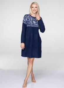 Sukienka Key z okrągłym dekoltem mini w stylu etno