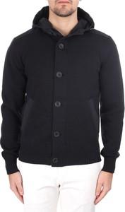 Czarny sweter Herno w stylu casual ze stójką